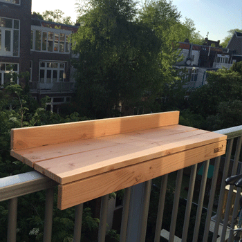Amsterdam paramaribostraat for Diy balcony bar